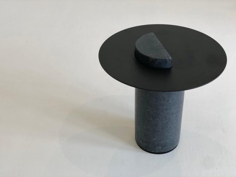 South African Contemporary Concrete Side Table, Collar by Oliver Whyte For Sale