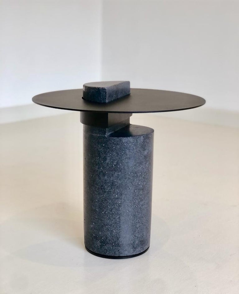 Other Contemporary Concrete Side Table, Collar by Oliver Whyte For Sale