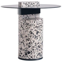 Contemporary Concrete Side Table, Collar by Oliver Whyte