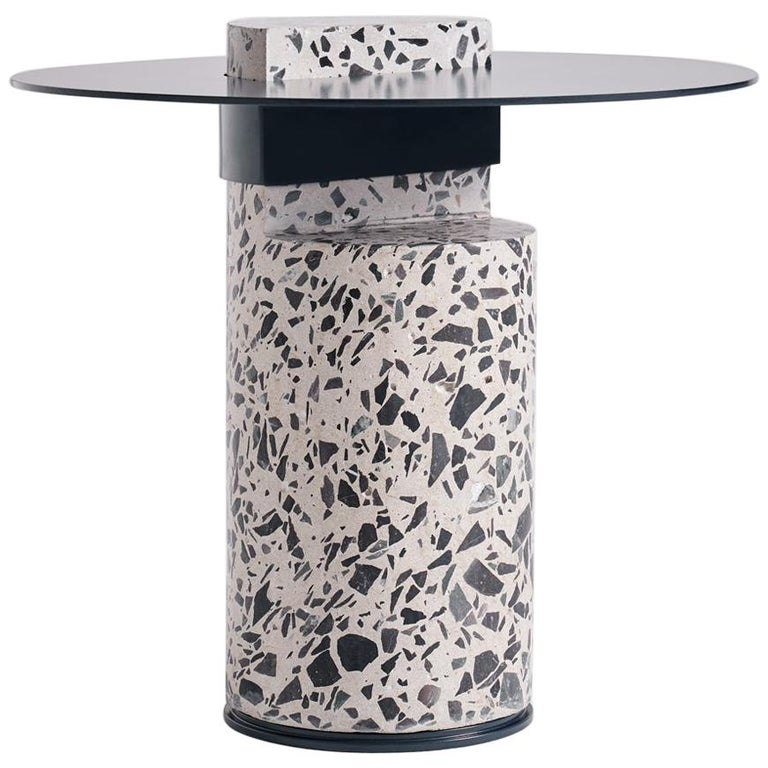 Contemporary Concrete Side Table, Collar by Oliver Whyte For Sale