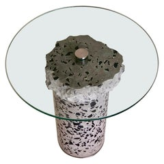 Contemporary Concrete Side Table, Flat Rough by Oliver Whyte
