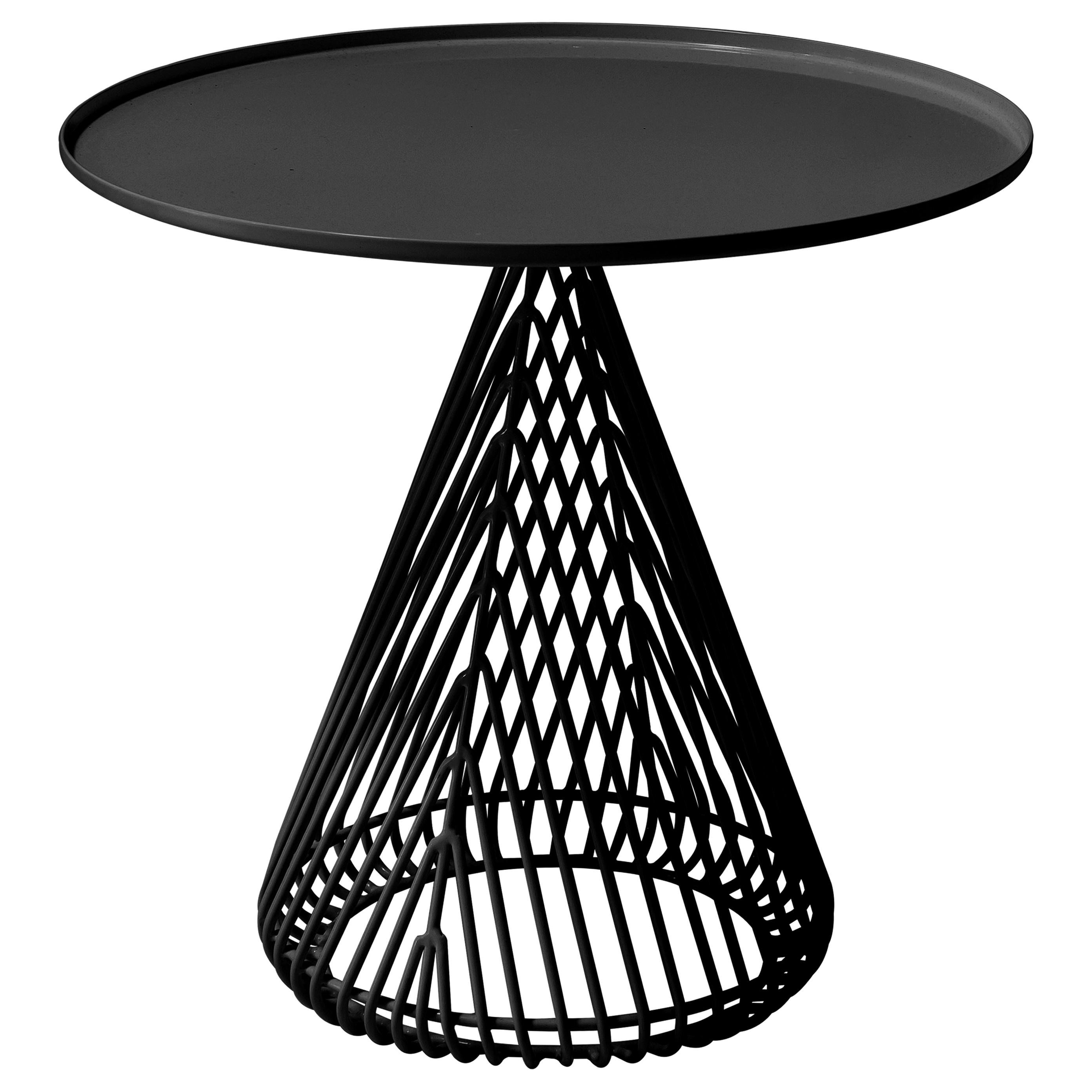 """Contemporary """"Cono"""" Side Table in Black by Bend Goods"""