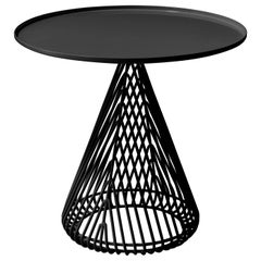 "Contemporary ""Cono"" Side Table in Black by Bend Goods"