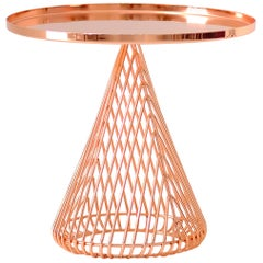 "Contemporary ""Cono"" Side Table in Copper by Bend Goods"