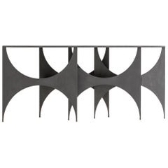 Contemporary Console Butterfly by Hannes Peer in Cement Handmade Resin Finish