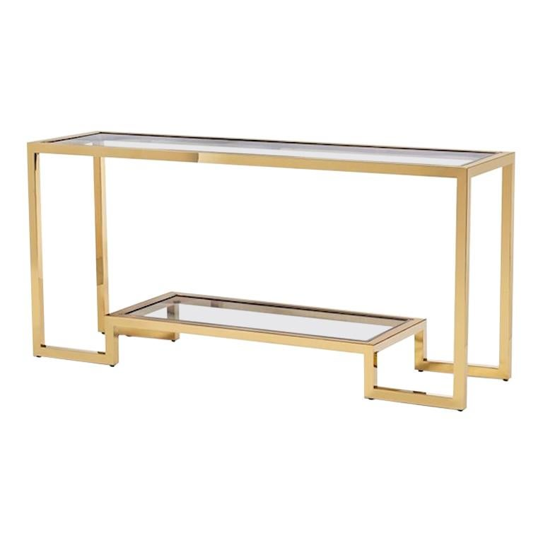 Contemporary Brass Console Table