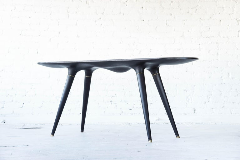 Ebonized dining table 001 from Series001 by Vincent Pocsik.
