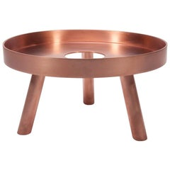 Contemporary Copper Large Serving Tray Decorative Sculpture Lift, in Stock