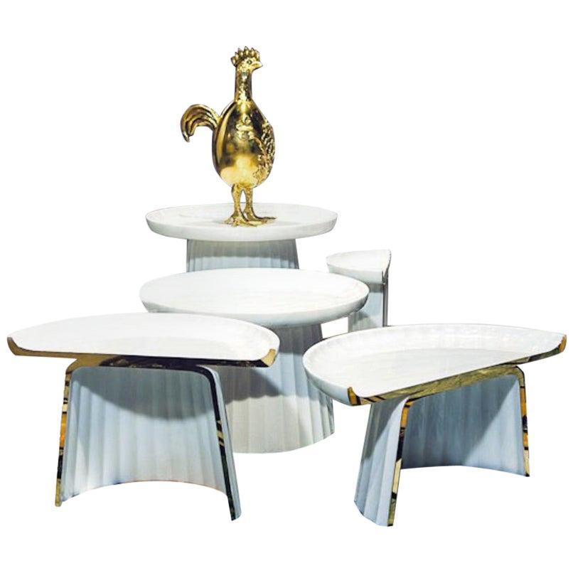 Contemporary Italian Corinthia Marble Coffee Table