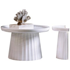 Contemporary Corinthia Coffee Table in Polished Bianco di Covelano Marble