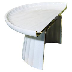 Contemporary Corinthia Coffee Table in Polished Bianco di Covelano Marble