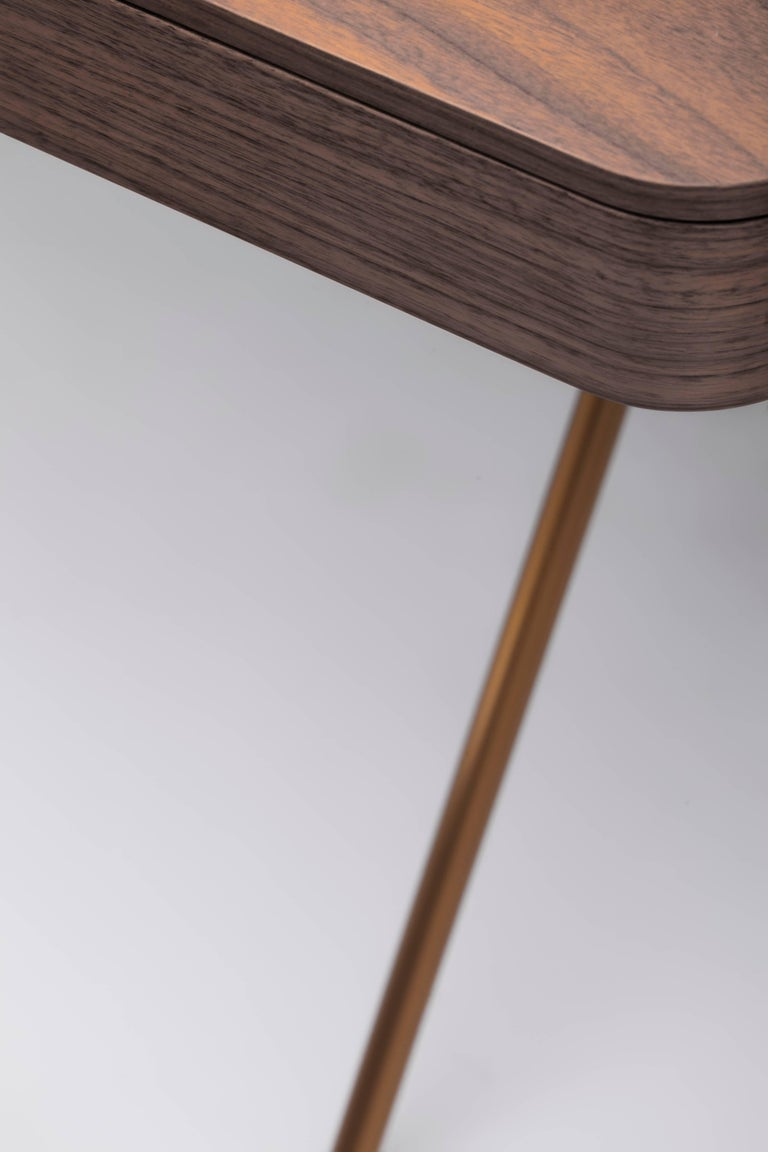 Contemporary Cosimo Desk by Marco Zanuso Jr. with Walnut Veneer Top For Sale 5