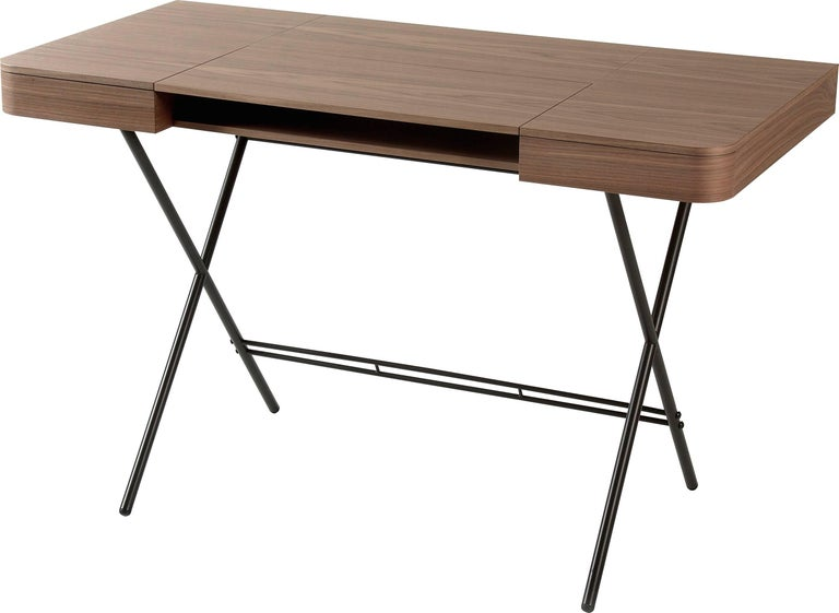 Contemporary Cosimo Desk by Marco Zanuso Jr. with Walnut Veneer Top For Sale 7