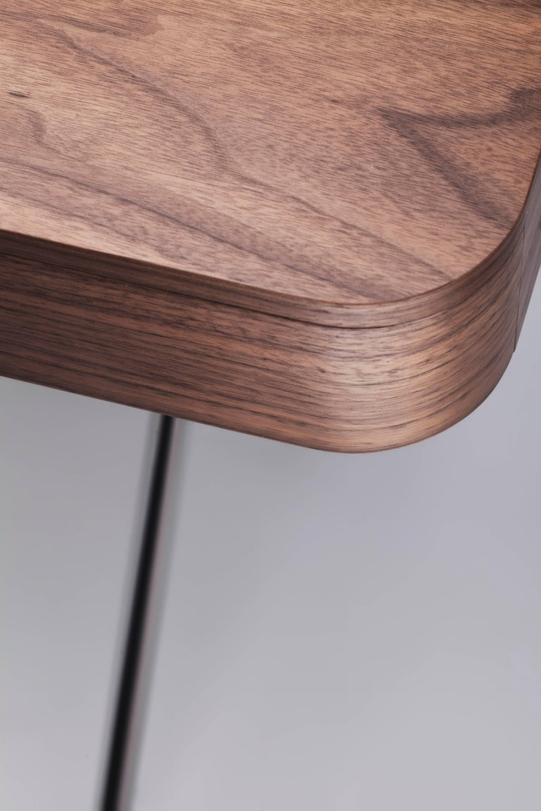 Contemporary Cosimo Desk by Marco Zanuso Jr. with Walnut Veneer Top For Sale 2