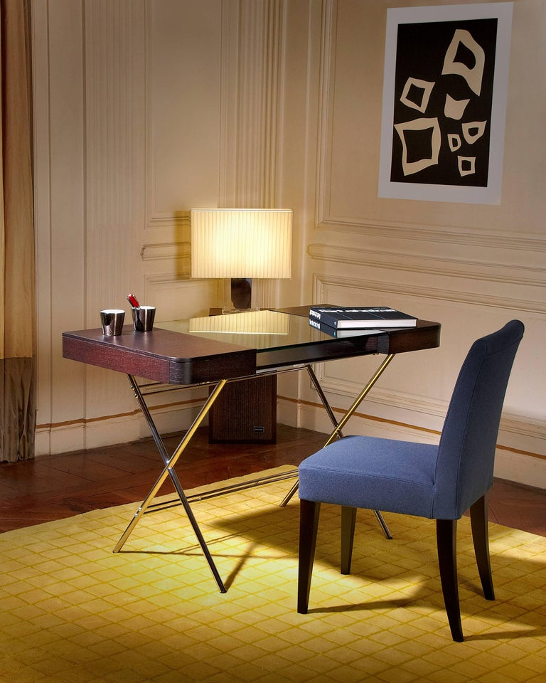 Contemporary Cosimo Desk by Marco Zanuso Jr. With Wenge Stained Oak Veneer Top In New Condition For Sale In Paris, FR