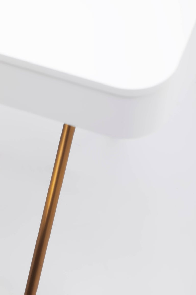 Contemporary Cosimo Desk by Marco Zanuso Jr. with White Mat Lacquered Top For Sale 4