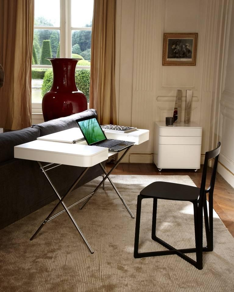 Contemporary Cosimo Desk by Marco Zanuso Jr. with White Mat Lacquered Top For Sale 7