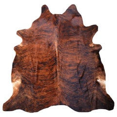 Contemporary Cowhide Rug Brown Tiger