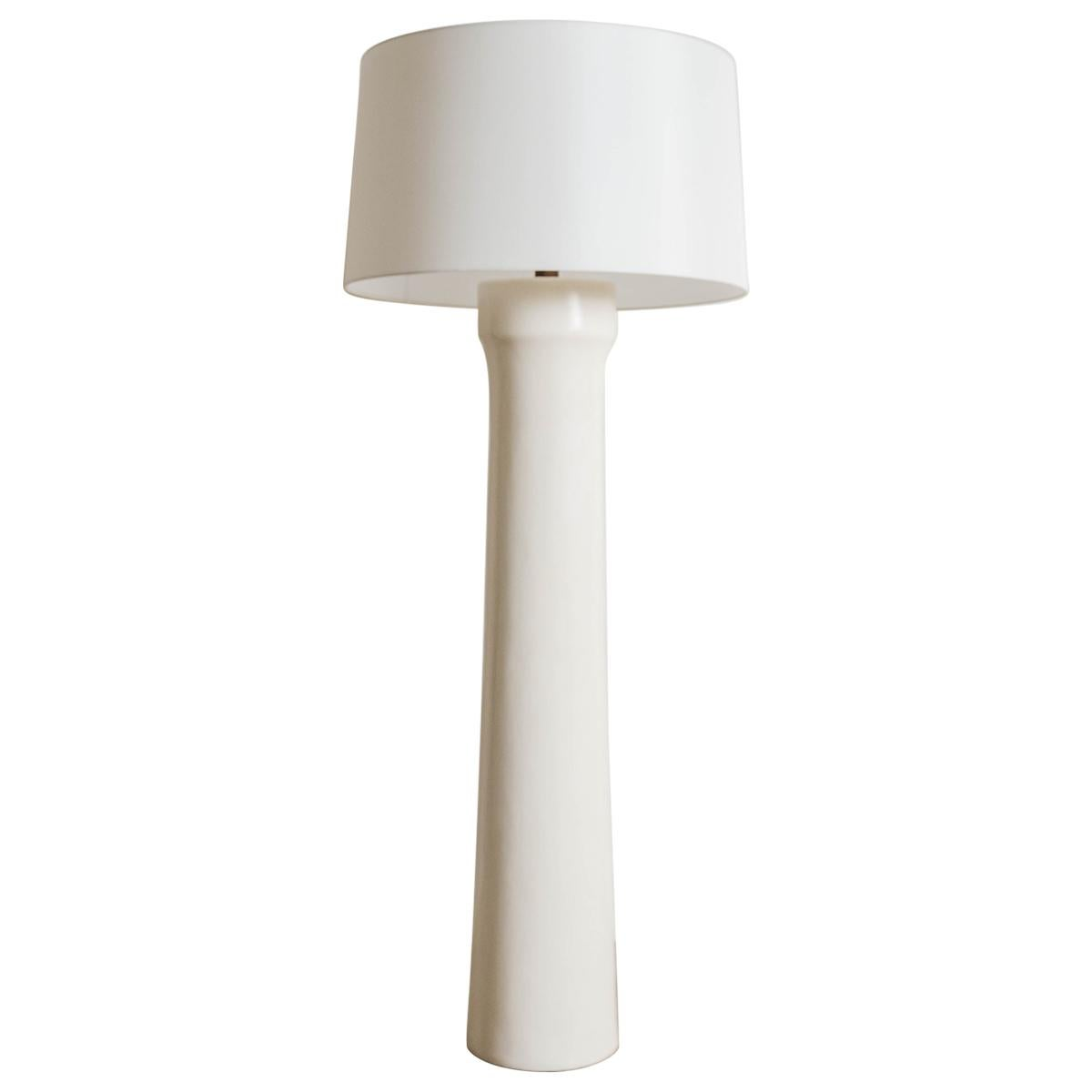 Contemporary Cream Lacquer Dong Shan Floor Lamp by Robert Kuo, Limited Edition