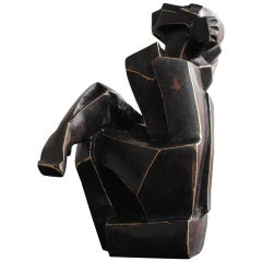 Contemporary Cubist Body in Bronze by Perrine Le Bars