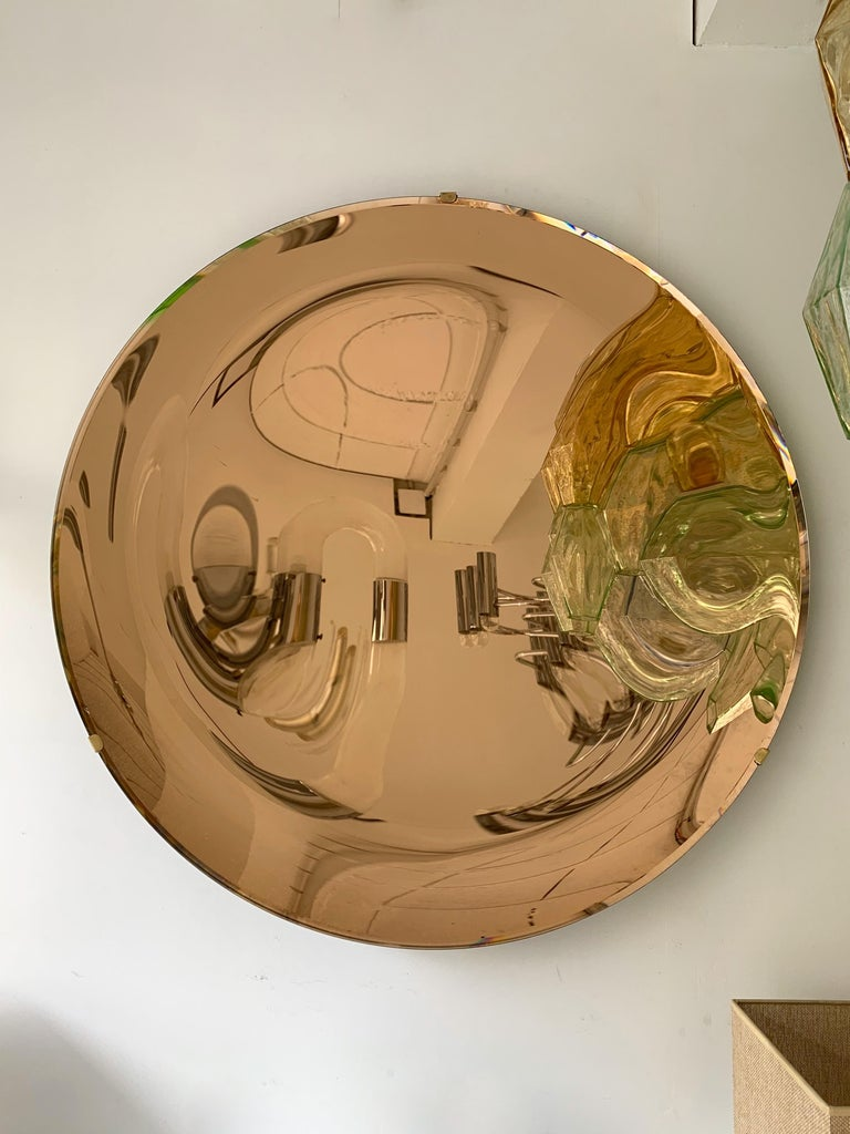 Brass Contemporary Curve Mirror, Italy For Sale
