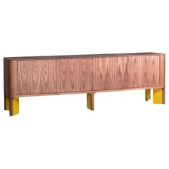 Contemporary Curved Corners Sideboard with Lacquered Base