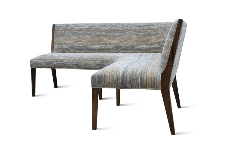 Modern Contemporary Custom Made Carina Dining Booth in Fabric from Costantini For Sale