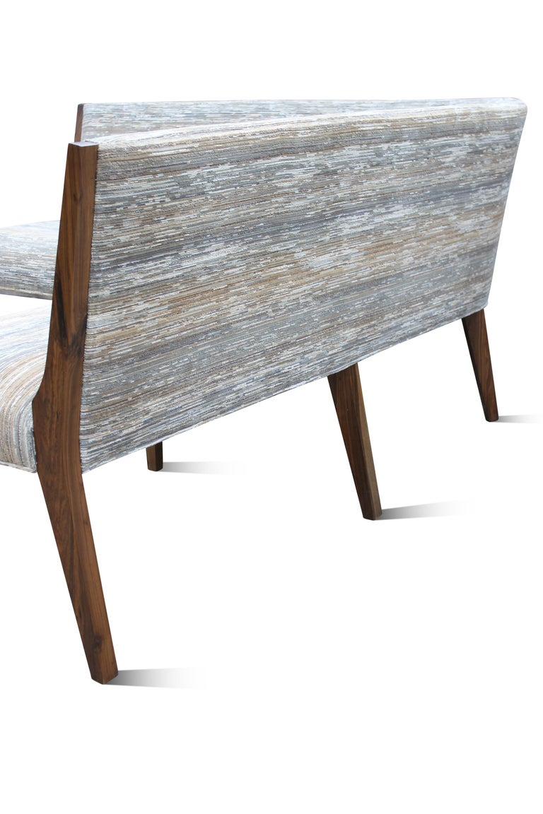 Contemporary Custom Made Carina Dining Booth in Fabric from Costantini In New Condition For Sale In New York, NY