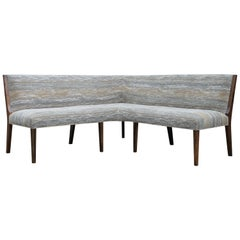 Contemporary Custom Made Carina Dining Booth in Fabric from Costantini