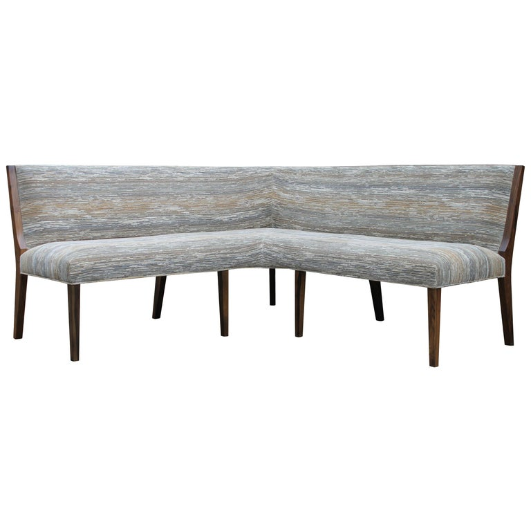 Contemporary Custom Made Carina Dining Booth in Fabric from Costantini For Sale