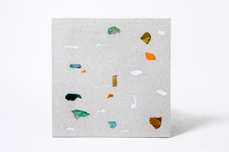 German Contemporary Customizable Square Basis Rho Neoterrazzo Coffee Table For Sale