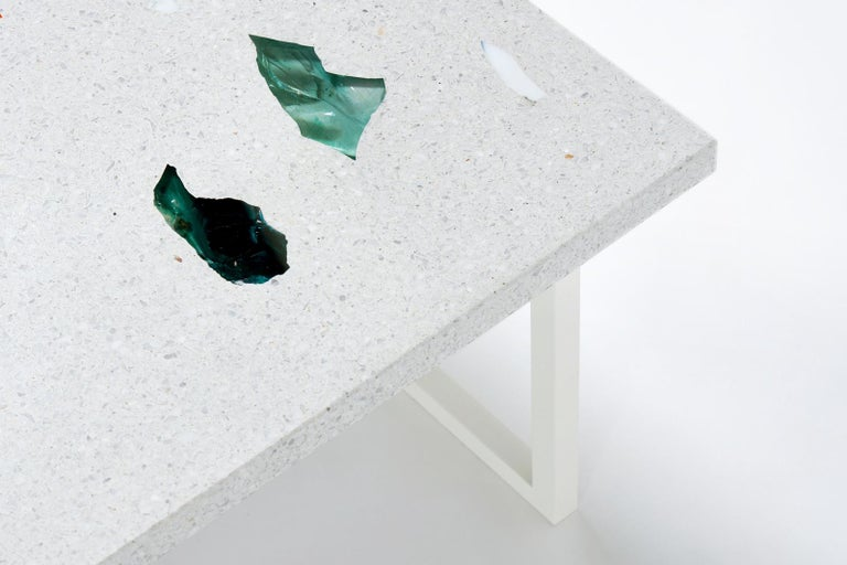 Contemporary Customizable Square Basis Rho Neoterrazzo Coffee Table For Sale 1