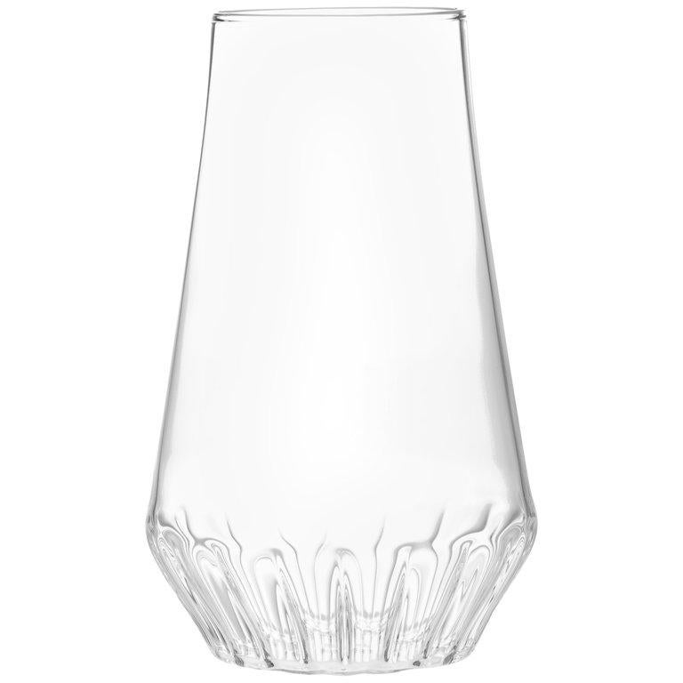 EU Clients Contemporary Czech Glass Modern Medium Vase Handcrafted, in Stock For Sale
