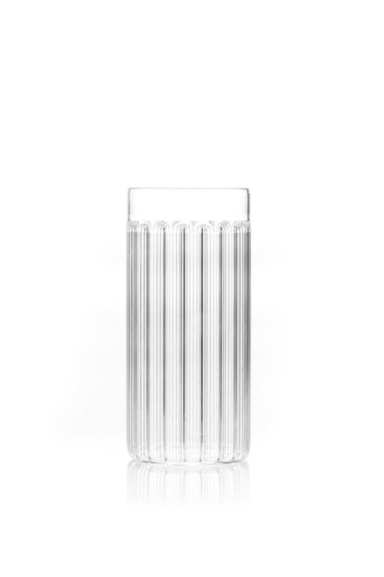 EU Clients Contemporary Czech Minimal 6 Collins & 6 Tumbler Glass Set, in Stock In New Condition For Sale In Milan, IT