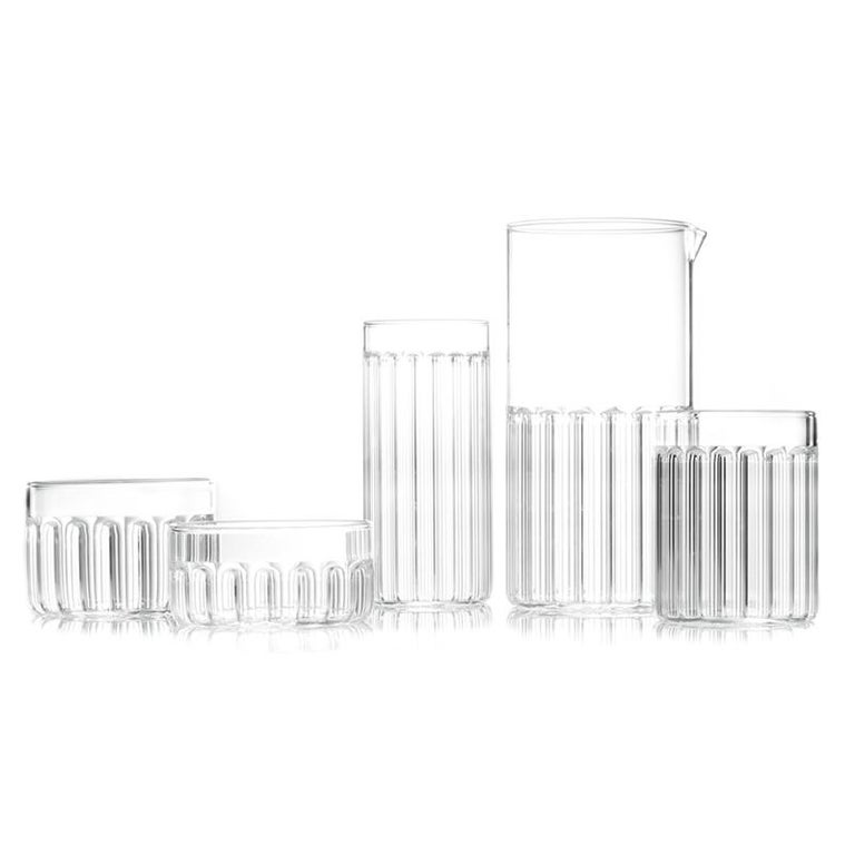 EU Clients Contemporary Czech Minimal 6 Collins & 6 Tumbler Glass Set, in Stock For Sale 2