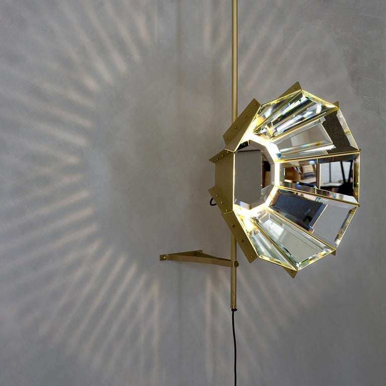 Modern Contemporary Daffodils hanging sculptural brass light or lamp For Sale