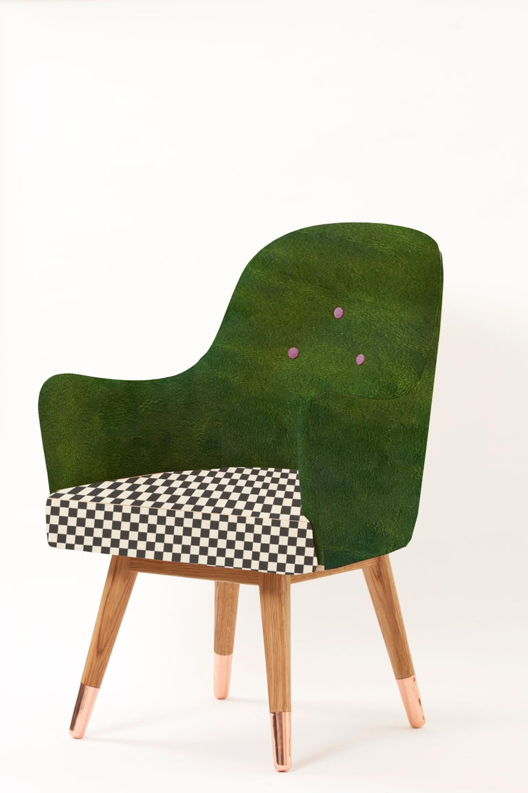 Thanks to its curved structure and smooth leather upholstery, Dandy offers a comfortable, relaxing environment to its users. Combination of contrasting colors, playful fabric and natural materials makes Dandy suitable for different spaces. The