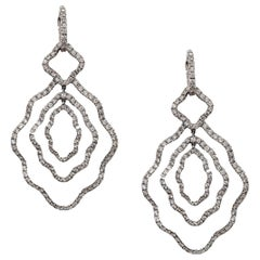 Contemporary Dangle Earrings with Detachable Huggie Hoop