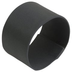 Handmade Contemporary Decorative Object Matte Black Porcelain Ring