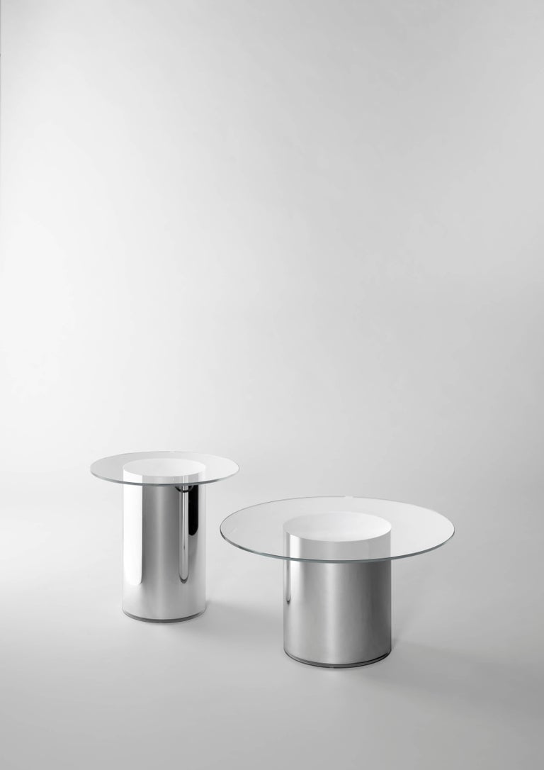 Contemporary Design '2001' N2 Side Tables by Ramon Úbeda and Otto Canalda In New Condition For Sale In Barcelona, Barcelona