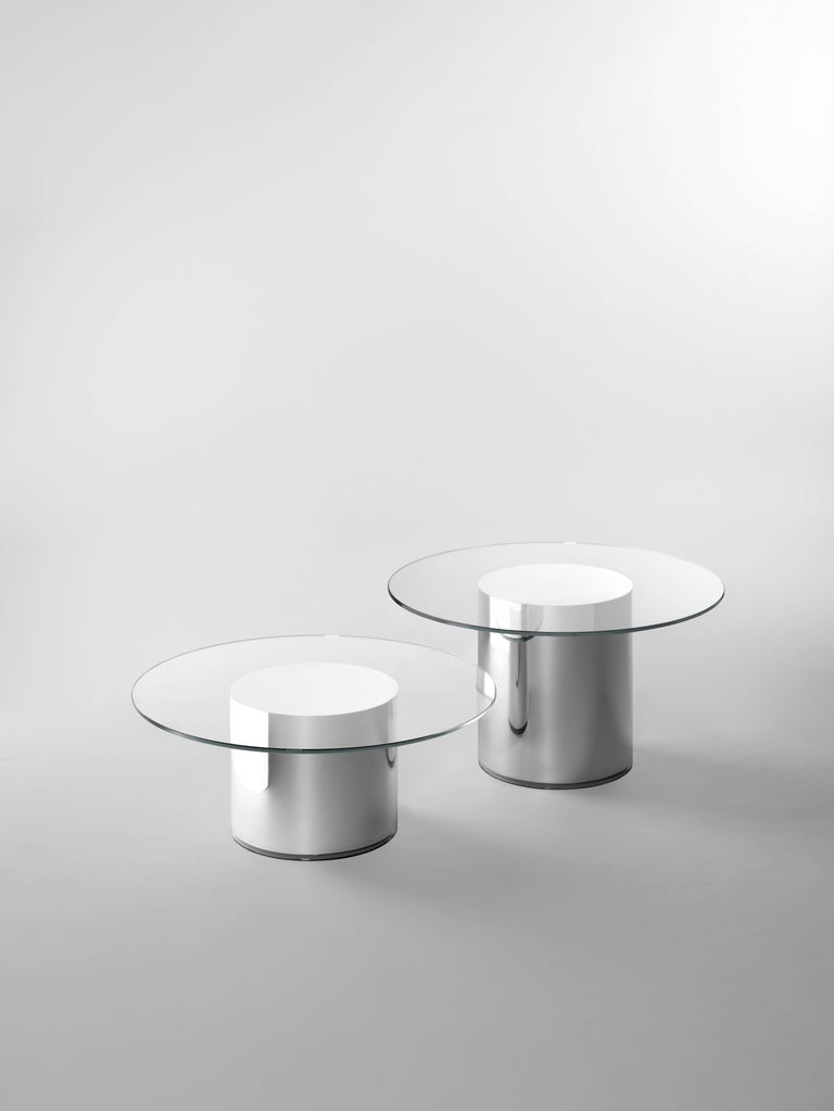 Glass Contemporary Design '2001' N2 Side Tables by Ramon Úbeda and Otto Canalda For Sale