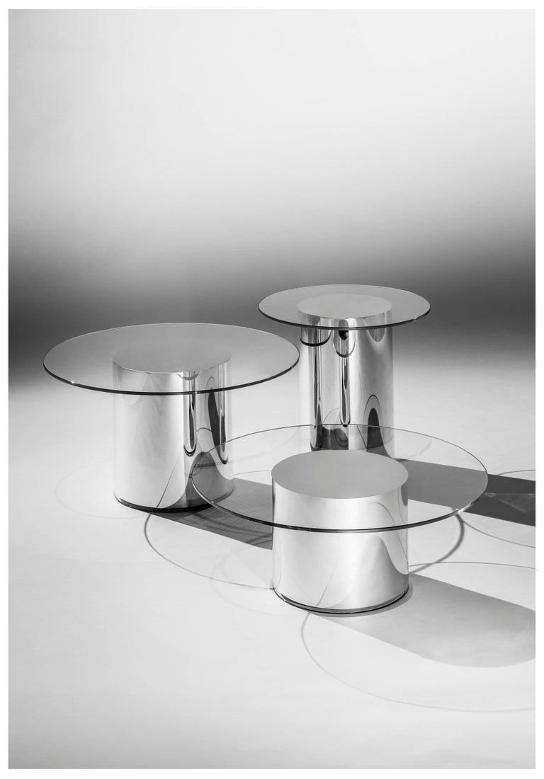 Contemporary Design '2001' N2 Side Tables by Ramon Úbeda and Otto Canalda For Sale 1