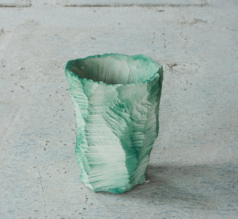 One-off a kind - Contemporary Design Moss - Vase by Andredottir & Bobek Artificial Nature is a collaboration between the artist and design duo Josephine Andredottir and Emilie Bobek  They have in this collection imitated landscape with artificial