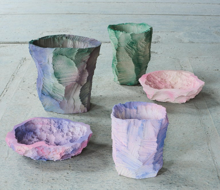 Dyed Contemporary Design 'Artificial Nature' Moss, Vase by Andredottir & Bobek For Sale