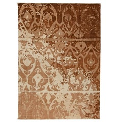 Contemporary Design Brown and Beige Rug