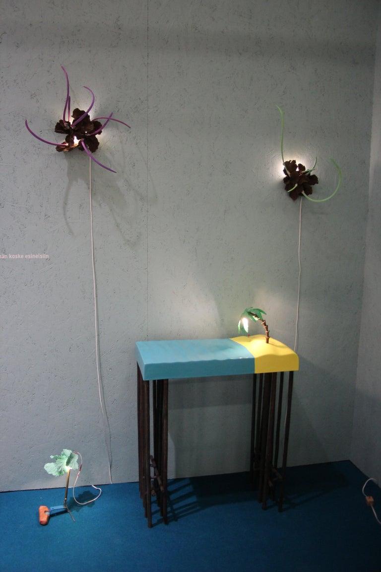 Contemporary Design Ceramic Wall Lamp by Teemu Salonen, Finland, Unique For Sale 9