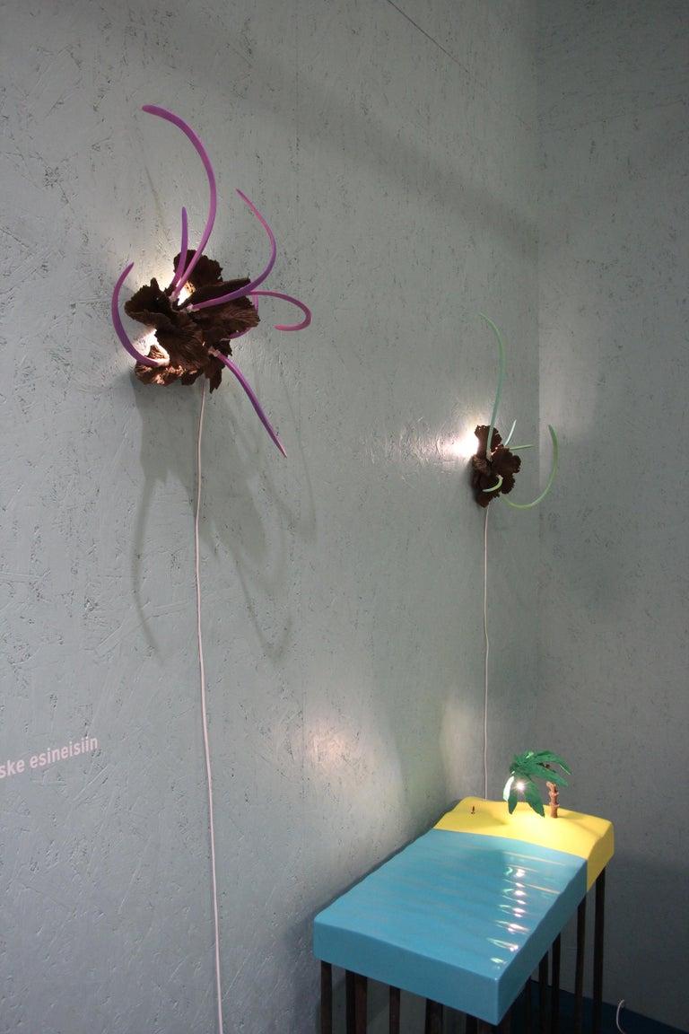 Contemporary Design Ceramic Wall Lamp by Teemu Salonen, Finland, Unique For Sale 10