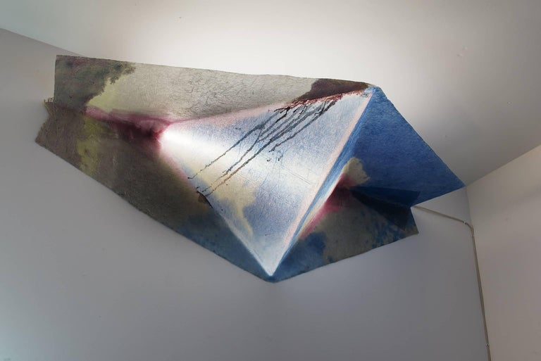 Contemporary Design Light, Hanging Lamp in Epoxy Resin and Fiberglass
