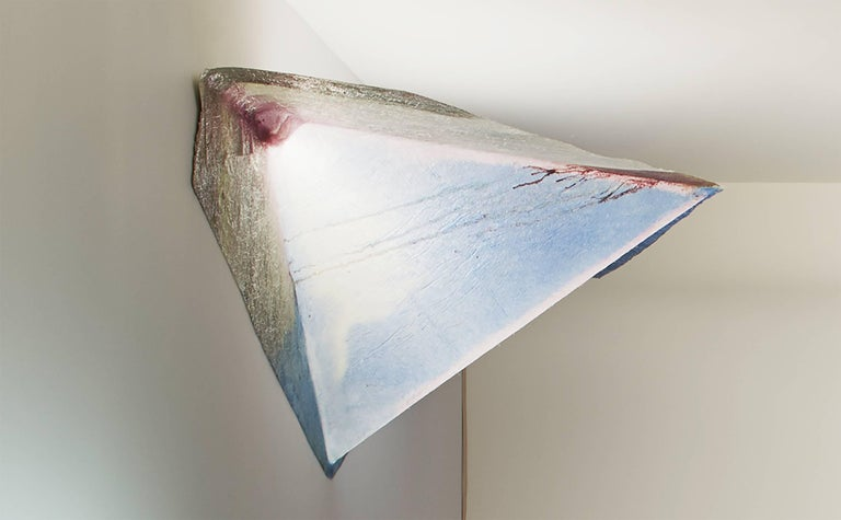 Other Contemporary Design Light, Hanging Lamp in Epoxy Resin and Fiberglass For Sale