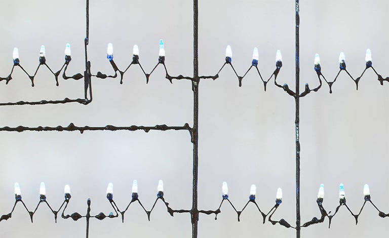 American Contemporary Design Light, Hanging Lamp in Epoxy Resin, Dimmable LED For Sale